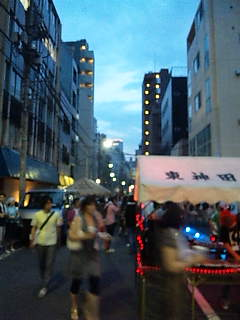 東京アートポイント計画・路上パーティ。