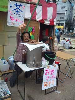 働いてます!@「釜ケ崎夏祭り」。
