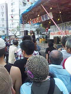 「釜ケ崎夏祭り」@西成三角公園。SHINGO☆西成。