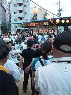 「釜ケ崎夏祭り」@西成三角公園。SHINGO☆西成+赤井英和。