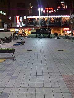 コミュニティアート映像祭in歌舞伎町の会場。