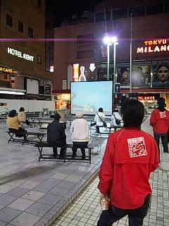 「コミュニティアート映像祭in歌舞伎町」、お客様の反応。